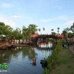 ตลาดน้ำอโยธยา ตลาดน้ำหมู่บ้านปางช้างอโยธยา อยุธยา